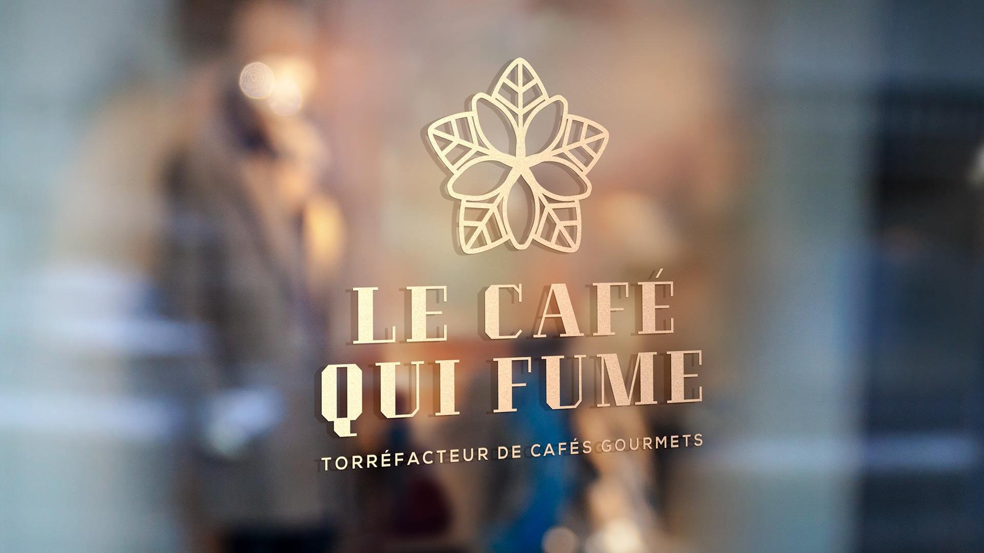 Vitrophanie Café qui fume